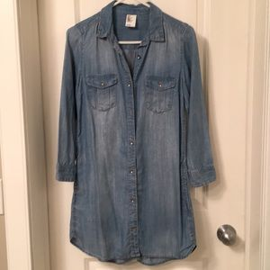Long denim shirt/dress